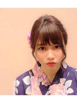 ヘア ラウンジ ニコ(hair lounge nico)浴衣似合わせ UP style