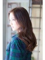 アッシュタカサキ(ash takasaki)大人かわいい☆ツヤ感暗髪×無造作カールの外ハネスタイル