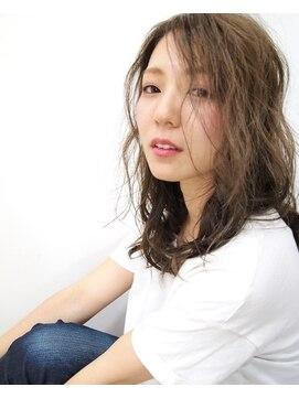 """ヒップスデコ(Hip's deco)「大宮Hip's」""""deco""""アッシュベージュ×ミックスカール☆"""