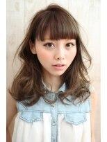 ドゥーエ 三鷹店(due)【 due 】くせ毛風セミロングカールは前髪重ためがKAWAII