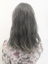 フレイムスヘアデザイン(FRAMES hair design)ハイトーングレージュカラー×ゆるふわミディアム