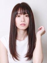 ブラン(Blanc)【Blanc hair】大人のセミロングストレートスタイル