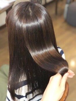"""ヘアーメイク リンク(Hair Make LINK)の写真/今までのストレートで満足できなかった方から絶大な支持♪""""1日2名限定""""のプラチナストレート◎"""