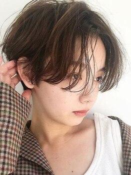 フランチェスカ(Francesca)の写真/[高持続性カット]なら乾かすだけでいいシンプルなStyle♪小顔ショートも首筋が綺麗に見えて横顔も可愛い!!