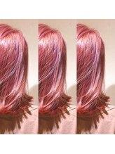 ブランニュー エターナル アベノセンタービル天王寺店(hair make Brand new eternal)【Brand new】ブリーチ×コーラルピンク