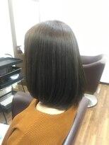 アールピクシー(Hair Work's r.Pixy)スモーキートパーズ×ボブ