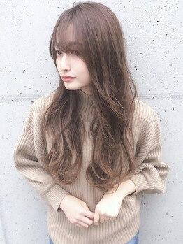 ローラン(ROULAND)の写真/≪憧れの小顔美人へ★≫マンネリしがちなミディアム・ロングを可愛くイメチェン☆前髪で印象を変えるのも◎