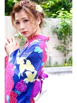 ☆CAPSULE☆浴衣ゆる編み込み/大人ブラウン