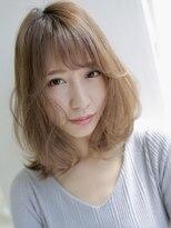 アグ ヘアー リーブル 高崎1号店(Agu hair livre)明るめカラーのゆるふわミディ