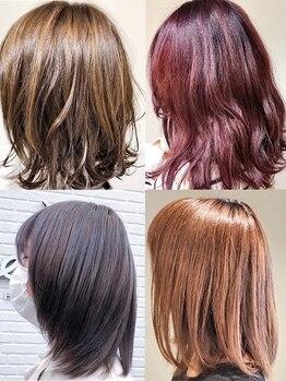 美容室 エリ(eli)の写真/【黒川】話題のカラー剤のラインナップが豊富★ダメージを最小限に抑え、美しさが色褪せない、輝く髪へ―