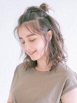 アース 小田原店(HAIR&MAKE EARTH)ゆるふわお団子ハーフアップ