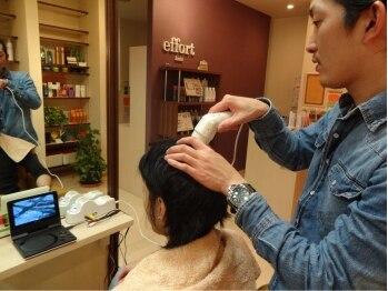 エフォート ヘアー(effort hair)の写真/100%オーガニックシャンプーやダメージレスなパーマなど、大人女性の髪の悩みに対応したメニューが人気☆