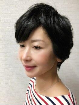 ウイングハーツ 石岡店(WING HEART'S)の写真/30代~の髪のお悩みを解決!ふんわり大人のショートヘア◎毎朝のスタイリングも超自然な仕上がりに♪