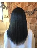 黒髪×透明感×ブルーブラック