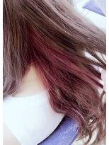 ホワイトアッシュ×ピンク▼インナーカラー