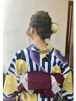 サロンド クラフト(salon de craft)【浴衣】編み込みシニヨンスタイル♪