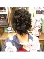 ヘアセットサロン アトリエ チャイ(Hair set salon atelier CHAI)ゆるくしゅアップ