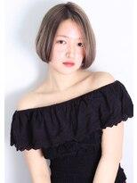 ヘアサロン ガリカ 表参道(hair salon Gallica)☆グレージュ & ひし形シルエット切りっぱなしボブ ☆