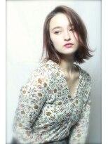 アンヘアー アリーズ(UN hair Ally's)なんかカワイイ♪切りっぱなし×外ハネ×バレイヤージュ(永井)