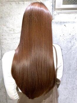 髪質改善ヘアエステ フランネル 経堂(Flannel)の写真/【縮毛矯正/TOPクラス】髪質改善しながらどんな髪も扱いやすい自然なストレートに!毎朝のセットも簡単♪