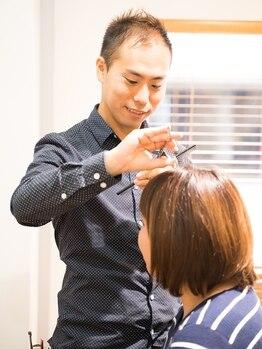 ヘアサロン ルッカ(Hairsalon rukka)の写真/新規カット〔¥3890〕お家でもサロンスタイルを簡単に♪扱いやすさを是非体験して下さい☆