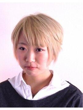 ヘアーカーブ(haircarve)haircarve初夏☆ブリーチ・ガールショートボブ