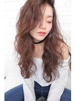 ハロ (Halo hair design)かきあげバングで色っぽクールなロングスタイル