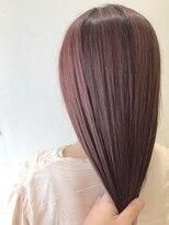 エゴヘアコレクション(EGO HAIR COLLECTION))毛先パッツリ×薄ピンクヘア