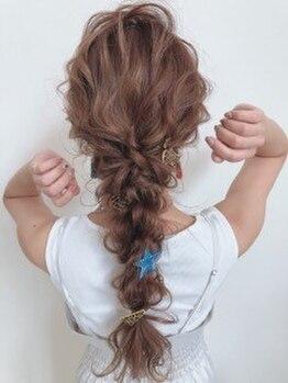 クラウン ヘアー(CLOWN hair)の写真/イベントやシーンに合わせたベストなアレンジをご提案!!思い出に残る日のヘアセットはCLOWN hairにお任せ☆