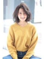 ヘアメイク シュシュ(Hair make chou chou)切りっぱなしボブデジタルパーマ【Chou-Chou 北林夏実】