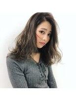 アヴァンス 深井店(AVANCE.)ベージュ×ファザーロング×センターパート