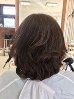 大人の透け髪ニュアンスカラー