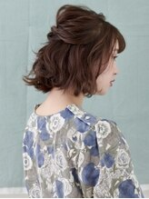 オーブ ヘアー フロート 京都5号店(AUBE HAIR float)【AUBE HAIR】編み込み_ハーフアップ