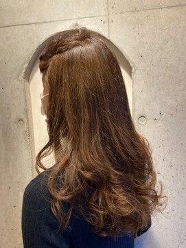 美容室 ル クラージュアッシュブラウンカラー