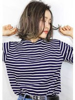 ヘアサロン ガリカ 表参道(hair salon Gallica)☆グレージュ&毛束感☆小顔ひし形シルエット切りっぱなしボブ♪