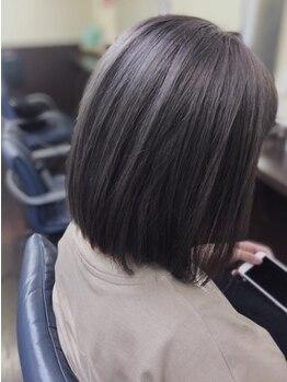 ヘアードレスアップラグゼ(Hair Dressup LUXE)の写真/【宇部空港近く】ダメージレスの縮毛で、つい触れてみたくなるような自然で柔らかい曲線美に♪