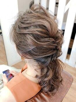 ニシモン(NISHIMON)の写真/定番ルーズアレンジから、和装のフルアップも!!結婚式や二次会、パーティーのヘアセットはお任せください☆