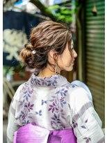 """オゥルージュ(Au-rouge noma)【aurouge noma 柳瀬香里】GIRL'S """"YUKATA"""" HAIRMAKE."""