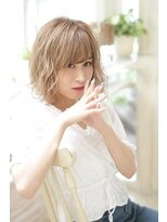 ジーナシンジュク(Zina SHINJYUKU)Zina☆大人かわいいブルージュふわミディ