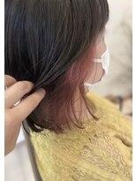 リリー ヘアーデザイン(Lilly hair design)ピンク系インナーカラー