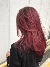 ヘアメイクミワ(HAIR+MAKE MIWA) deep pink gradation