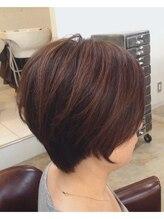 ゼルコバ(ZelCova)3D白髪染め シンプルきれいなショート 堺 三国ヶ丘 美容室