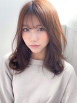 《Agu hair》シースルーバング色っぽふんわりセミディ