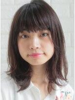 キース ヘアアンドメイク(kith. hair&make)恵比寿kith.本田×無造作なブルージュふわミディ
