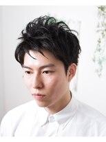 オーガニックサロン フェイス 茶屋町店(organic salon face)絶妙な束感、スッキリ前髪の黒髪男前メンズショート