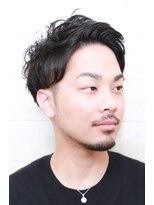[OCEAN Hair&Life高田徹]アップバング黒髪ショート
