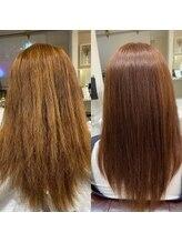 フィーカ(FiiKA)☆ビフォーアフター☆髪質改善リアン式ストレート 酸性ver