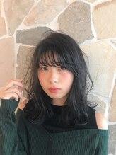 シェル(SHEL)SHEL◆石川 艶っぽ暗髪ミディアムパーマ