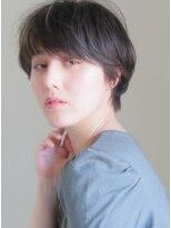 キース ヘアアンドメイク(kith. hair&make) 恵比寿kith.本田×マニッシュ黒髪ローライト厚めバングショート