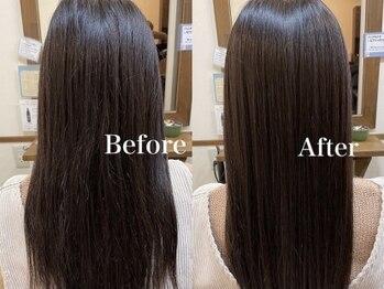 フルール 王子店(fleur)の写真/『カラーエステ』でカラーをしながら髪質改善♪深みのあるグレイカラーでワンランク上の大人女性へ☆